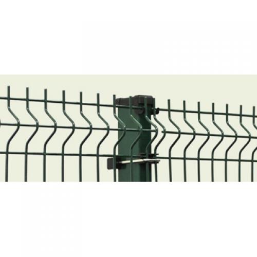 PVC pārklāts 3D žoga panelis 1,23x2,5m, acs 50x200mm, stieple Ø5mm, ražots EU (000343)