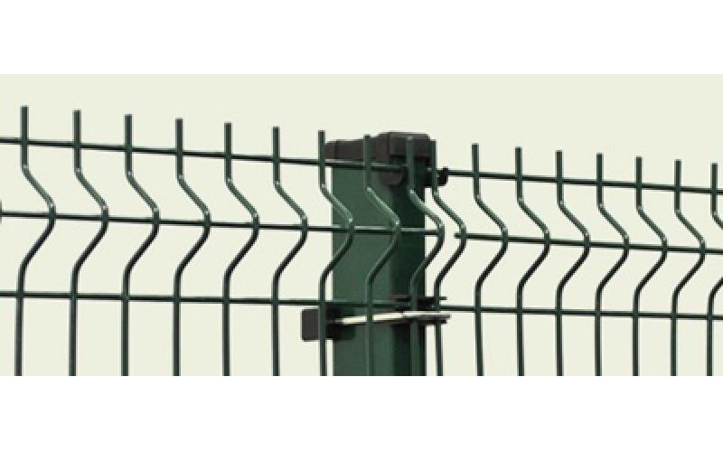 PVC pārklāts 3D žoga panelis 2,03x2,5m, acs 50x200mm, stieple Ø5mm, ražots EU (000466)