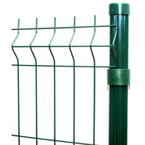 PVC pārklāts 3D žoga panelis 2,03x2,5m, acs 50x200mm, stieple Ø4mm, ražots EU (000570)