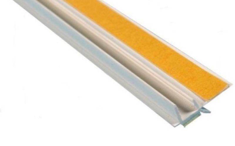 PVC pašlīmējošais loga profils 9mm x 2.4m