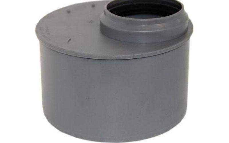 Iekšējās kanalizācijas pāreja zemā PP Ø 110-75 mm