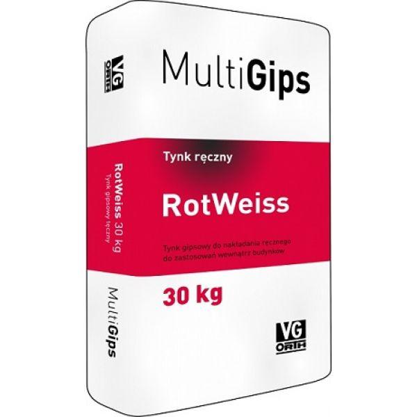 MultiGips RotWeiss 30kg ģipša apmetums