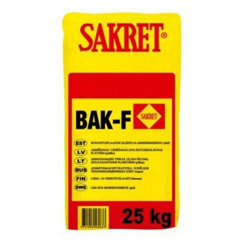 Sakret BAK-F Серая Армируемая штукатурка/клей 25kg