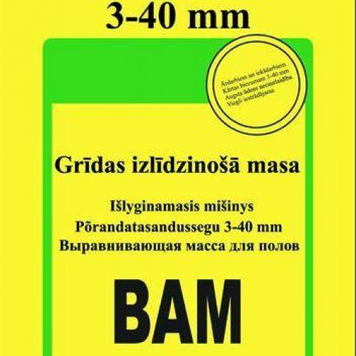 Sakret BAM – Masa grīdu izlīdzināšanai (3-40 mm),25kg