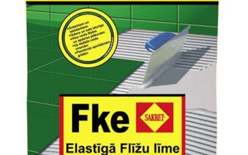 Sakret Elastīgā flīžu līme pelēka C2TE Fke 25kg