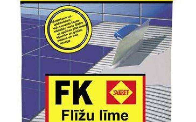 Sakret Flīžu līme stabilām virsmām balta C1 FK 25kg
