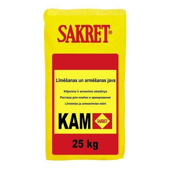 Sakret Kam - белая Армируемая штукатурка/клей для теплоизоляционных плит