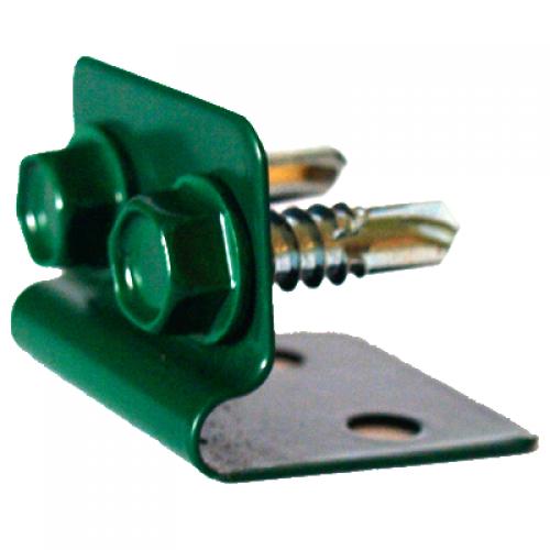 Stiprinājums stieplei ar 2 skrūvēm, zaļš (000810)