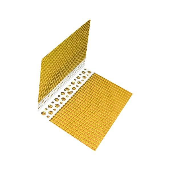 Stūris fasādes ēku siltināšanai PVC+dzeltens siets