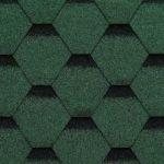 Technonicol bitumena šindeļi Sonata HEXAGONAL Zaļa, 3m2