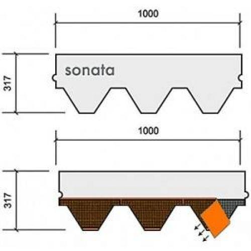Technonicol bitumena šindeļi Sonata Samba Brūns, 3m2