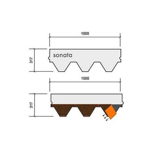 Technonicol bitumena šindeļi Sonata Versales Melns, 3m2