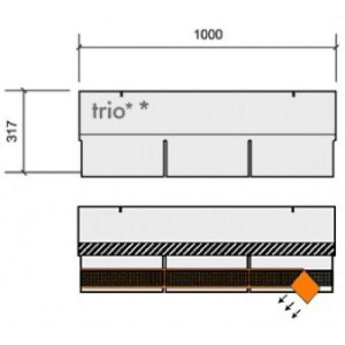 Technonicol bitumena šindeļi Trio Super Sarkani brūns, 3m2