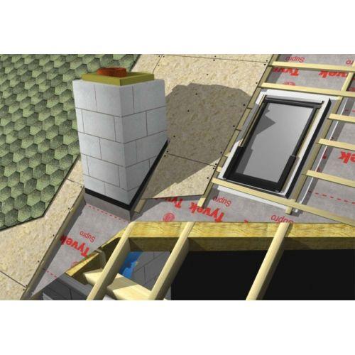 TYVEK SUPRO Plus tape Armēta difūzplēve ar mikrospraugām, 150cm, 75m2