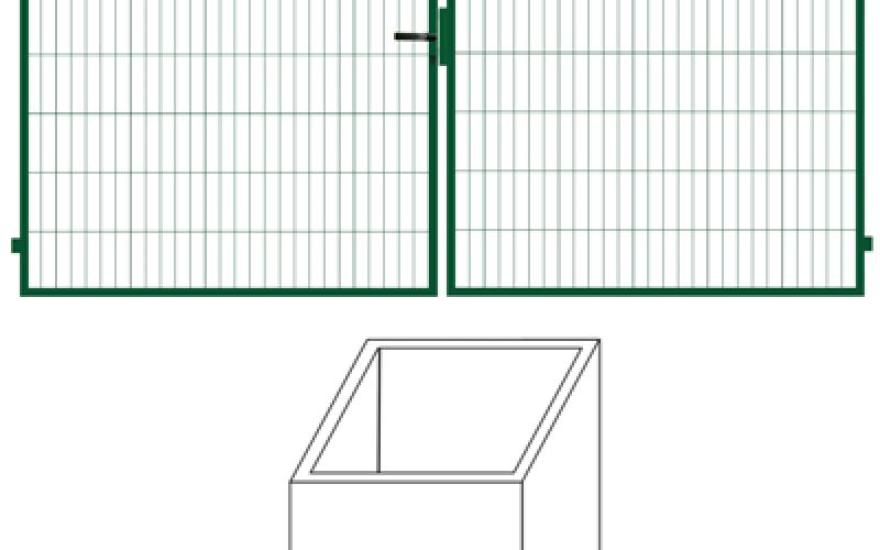 Vārtu vērtnes 1,8m x 4m vārtiem (000685)