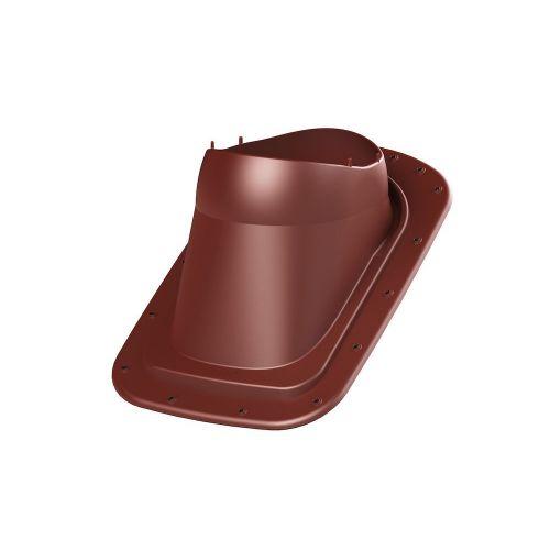 VILPE Classic Vino Ventilācijas izvada pieslēgums Valcprofila un bitumena šindeļu jumtam, sarkans