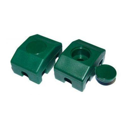 Paneļu fiksators 40x30mm/ Ø6mm, zaļš (000281)